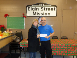 Elgin St. Mission Donation 2013