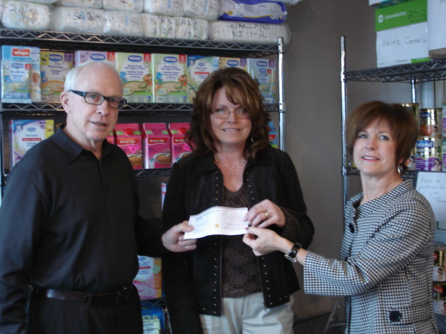 Sudbury Infant Food Bank Donation 2011